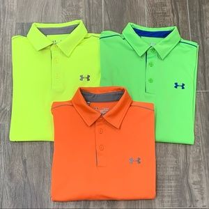 Bundle of Under Armour Loose Fit Polos, Size XL